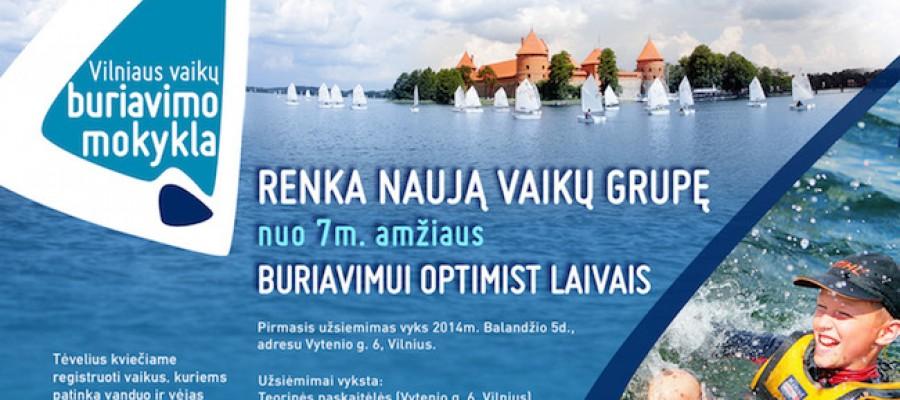 Vilniaus vaikų buriavimo mokykla ieško savanorių